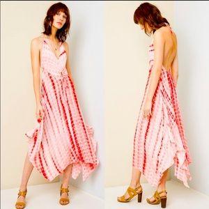 """The Carmen"" Tie Dye Halter Backless Dress"